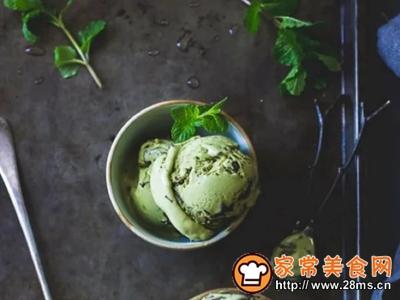 自制抹茶冰淇淋的做法图解12