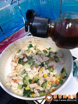 #花10分钟,做一道菜!#【炒】宝宝添饭必备-五彩鸡丁的做法图解9