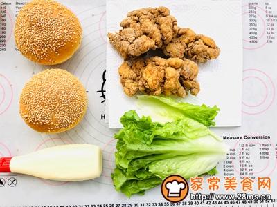 香辣鸡腿汉堡(含面包胚的制作)的做法图解22