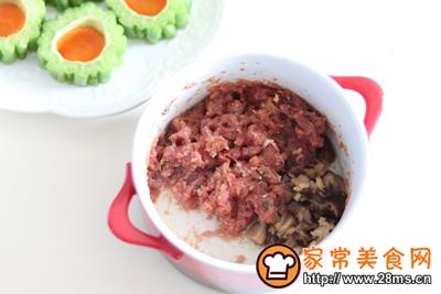 #花10分钟,做一道菜!#苦瓜酿肉的做法图解7