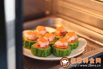 #花10分钟,做一道菜!#苦瓜酿肉的做法图解10