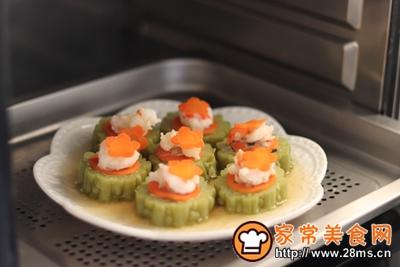 #花10分钟,做一道菜!#苦瓜酿肉的做法图解12