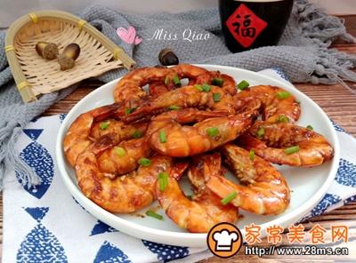 红烧大虾的做法图解14