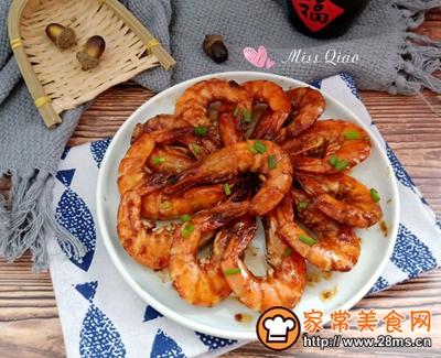 红烧大虾的做法图解15