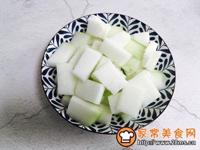 蚝油虾皮炒冬瓜的做法图解2