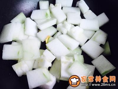 蚝油虾皮炒冬瓜的做法图解5