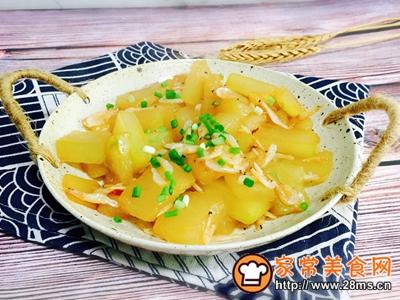 蚝油虾皮炒冬瓜的做法图解11