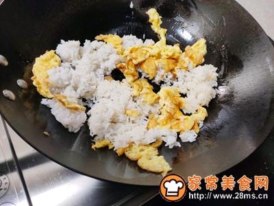 生菜蛋炒饭的做法图解4