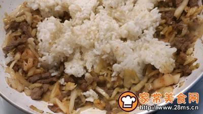 酸菜泡菜炒米饭的做法图解6