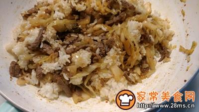 酸菜泡菜炒米饭的做法图解7