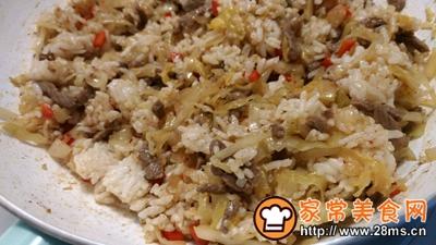 酸菜泡菜炒米饭的做法图解8