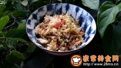 酸菜泡菜炒米饭的做法图解9