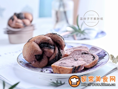 黑芝麻黑米面包的做法图解14