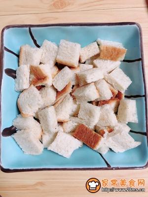 红提芝士烤吐司布丁的做法图解8