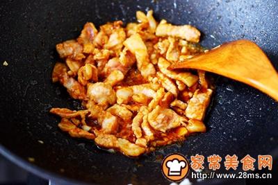 蒜香肉片炒苋菜的做法图解9