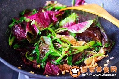 蒜香肉片炒苋菜的做法图解10