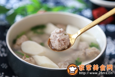 山药肉丸汤的做法图解8
