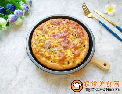 土豆彩蔬披萨的做法图解13