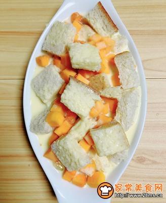 南瓜烤吐司布丁的做法图解10