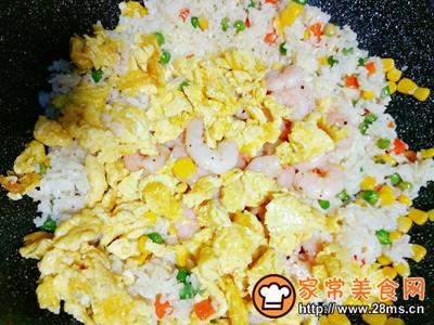 虾仁杂蔬蛋炒饭的做法图解9