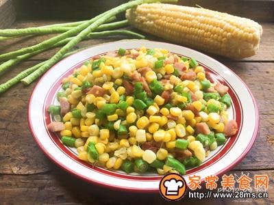叉烧玉米豆角丁的做法图解9