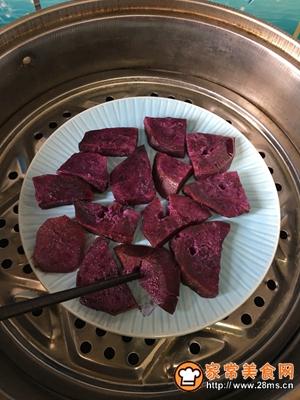 超Q弹好吃的紫薯糯米糍的做法图解2