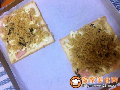 海苔肉松披萨吐司的做法图解5