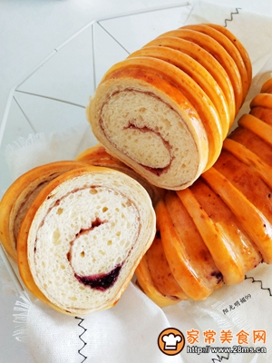 蓝莓面包卷的做法图解14