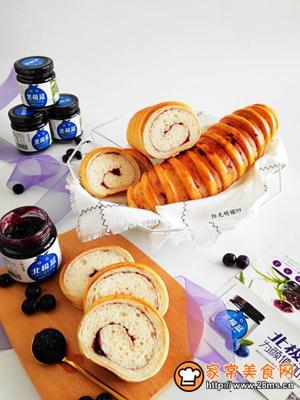 蓝莓面包卷的做法图解16