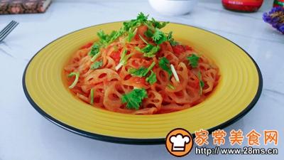 葱姜蒜辣茄茄藕的做法图解7