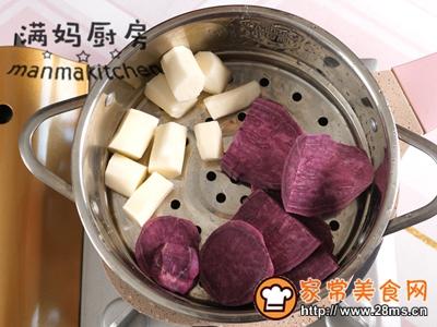 紫薯馅饼软糯香甜的做法图解1