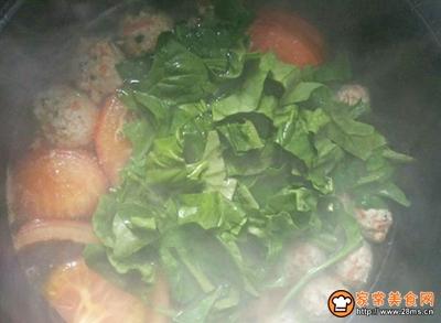 蔬菜肉丸汤的做法图解9