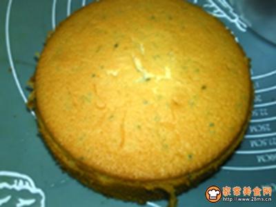 芝麻蜂糖戚风蛋糕的做法图解22
