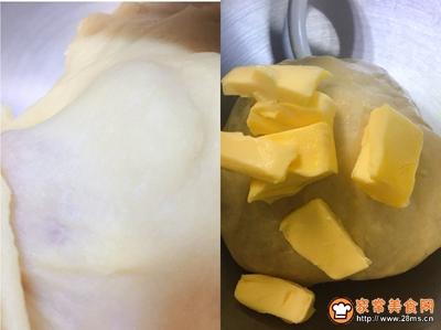 椰蓉豆沙排包的做法图解4