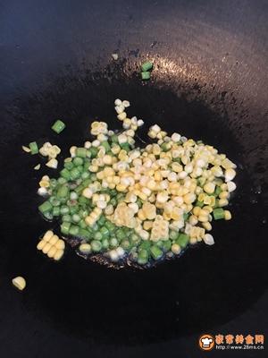 豆角丁炒饭的做法图解2