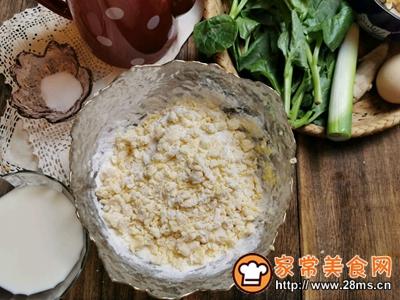扇贝木耳菜鸡蛋疙瘩汤的做法图解3