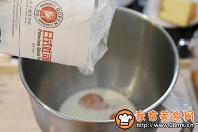 日式手撕杏子酱吐司的做法图解1
