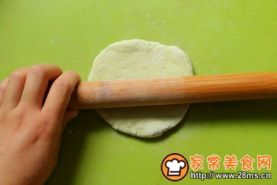 翡翠烙馍卷蒜汁儿的做法图解9