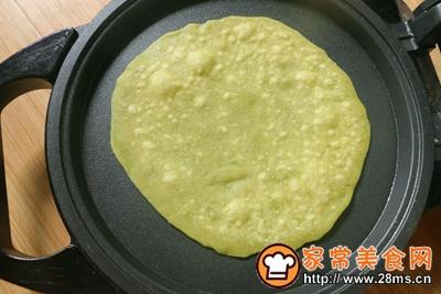 翡翠烙馍卷蒜汁儿的做法图解11