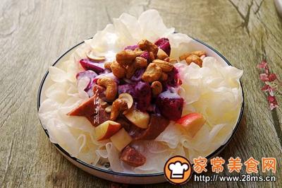 银耳牛肉肠水果沙拉的做法图解9