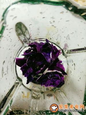 紫甘蓝雪梨汁的做法图解4