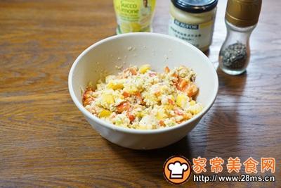 鹰嘴豆彩椒面包塔配豆浆的做法图解6