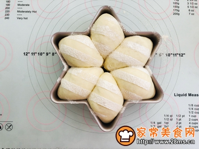 六角星白面包的做法图解11