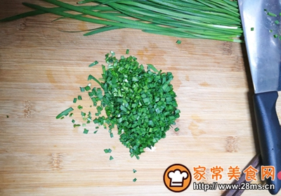 太阳饼饺皮版韭菜盒子的做法图解2