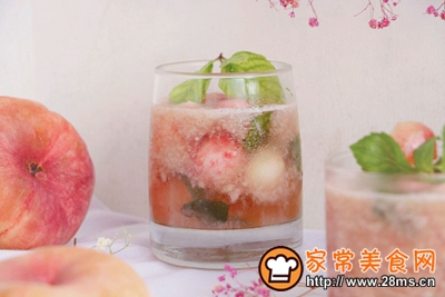蜜桃清凉苏打水的做法图解15