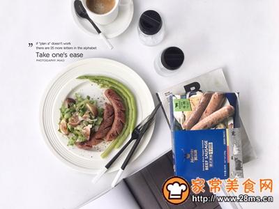牛肉肠芦笋沙拉减脂轻食餐的做法图解3