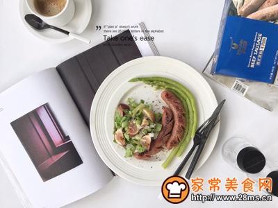 牛肉肠芦笋沙拉减脂轻食餐的做法图解5