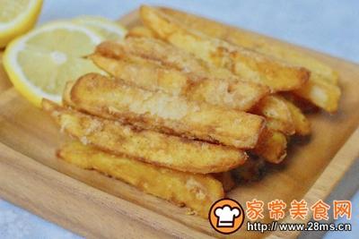 蒜香薯条的做法图解8