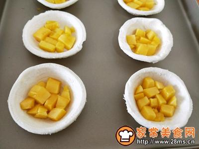 好吃到飞起来的芒果酥(蛋挞皮版)的做法图解4