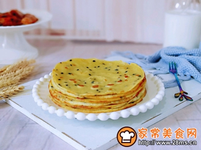 玉米面粉鸡蛋饼的做法图解13